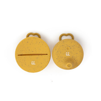 Silicone Snack & Sippy Lids Set - Oak Bull Speckled