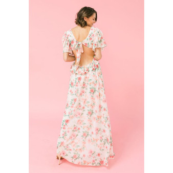 Uncovered Roses Maxi Dress