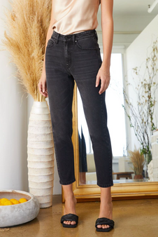 Washed High Rise Mom Jean
