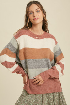 Blushed Color Block Sweater