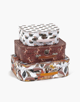 Set of 3 Printed Suitcases
