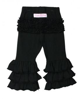 Black Everyday Ruffle Pants