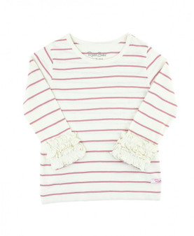 Ivory and Mauve Striped Layering Tee