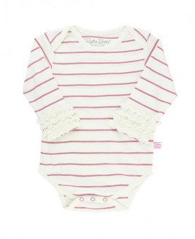 Ivory and Mauve Striped Bodysuit