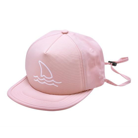 Blush Shark Fin Trucker Sun Hat