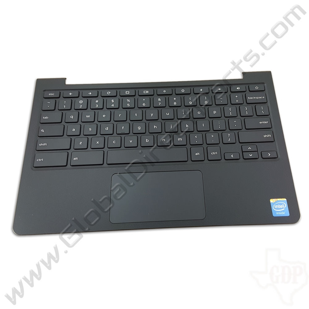 OEM Reclaimed Dell Chromebook 11 CB1C13 Keyboard with Touchpad [C-Side] - Gray [0CK4ND]