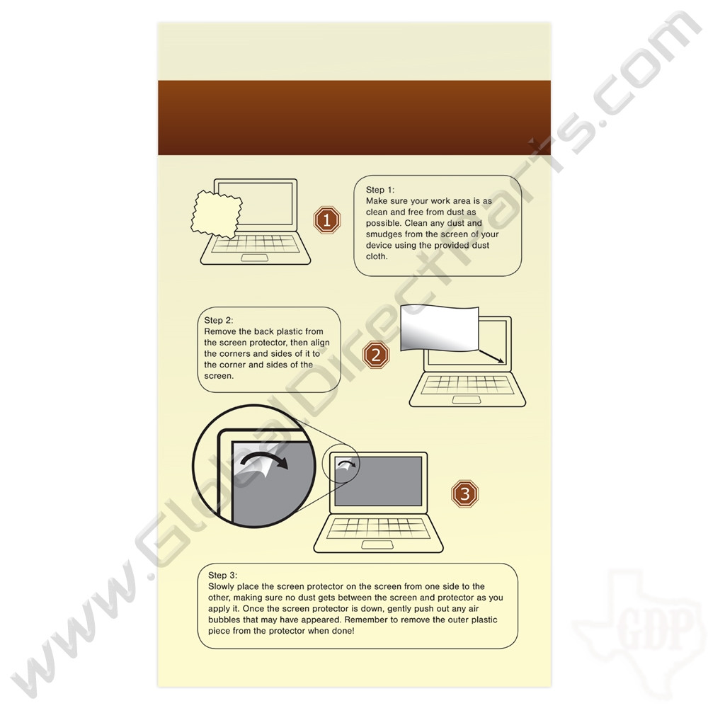 HD Screen Protector for Dell Chromebook 11 CB1C13 [Pack of 5]