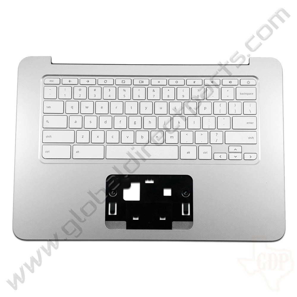 OEM Reclaimed HP Chromebook 14 G3, G4 Keyboard [C-Side] - White [Black Strip] [788511-001]