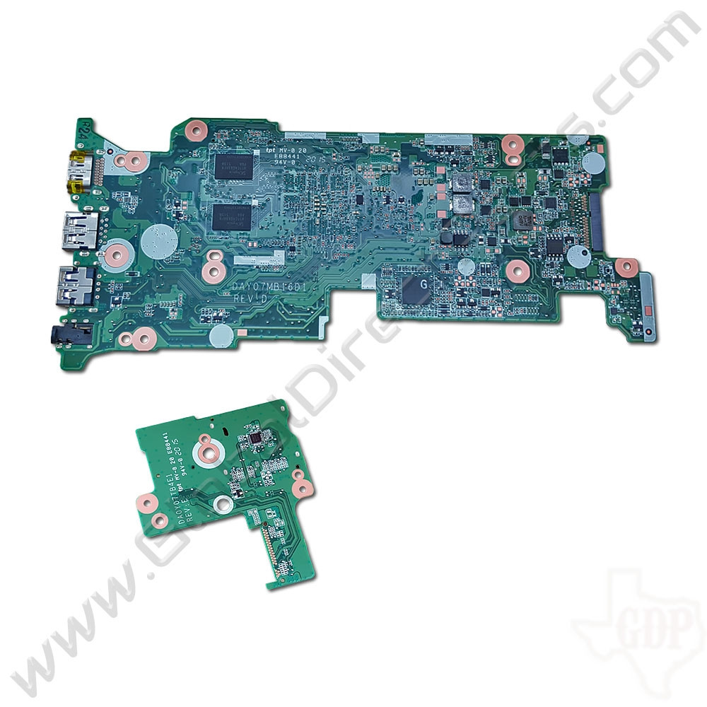 OEM HP Chromebook 11 G3, G4 Motherboard & Daughterboard Set [2GB] [783073-001]