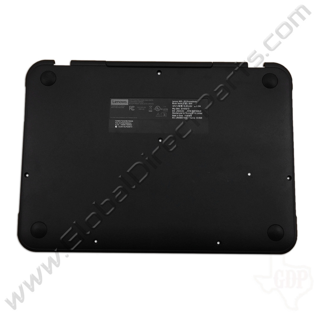 OEM Lenovo N22, N22 Touch Chromebook Bottom Housing [D-Side] - Gray [3INL6BA0050]