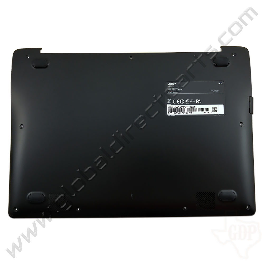 OEM Samsung Chromebook 2 XE503C12 Bottom Housing [D-Side] - Black [BA98-00268A]