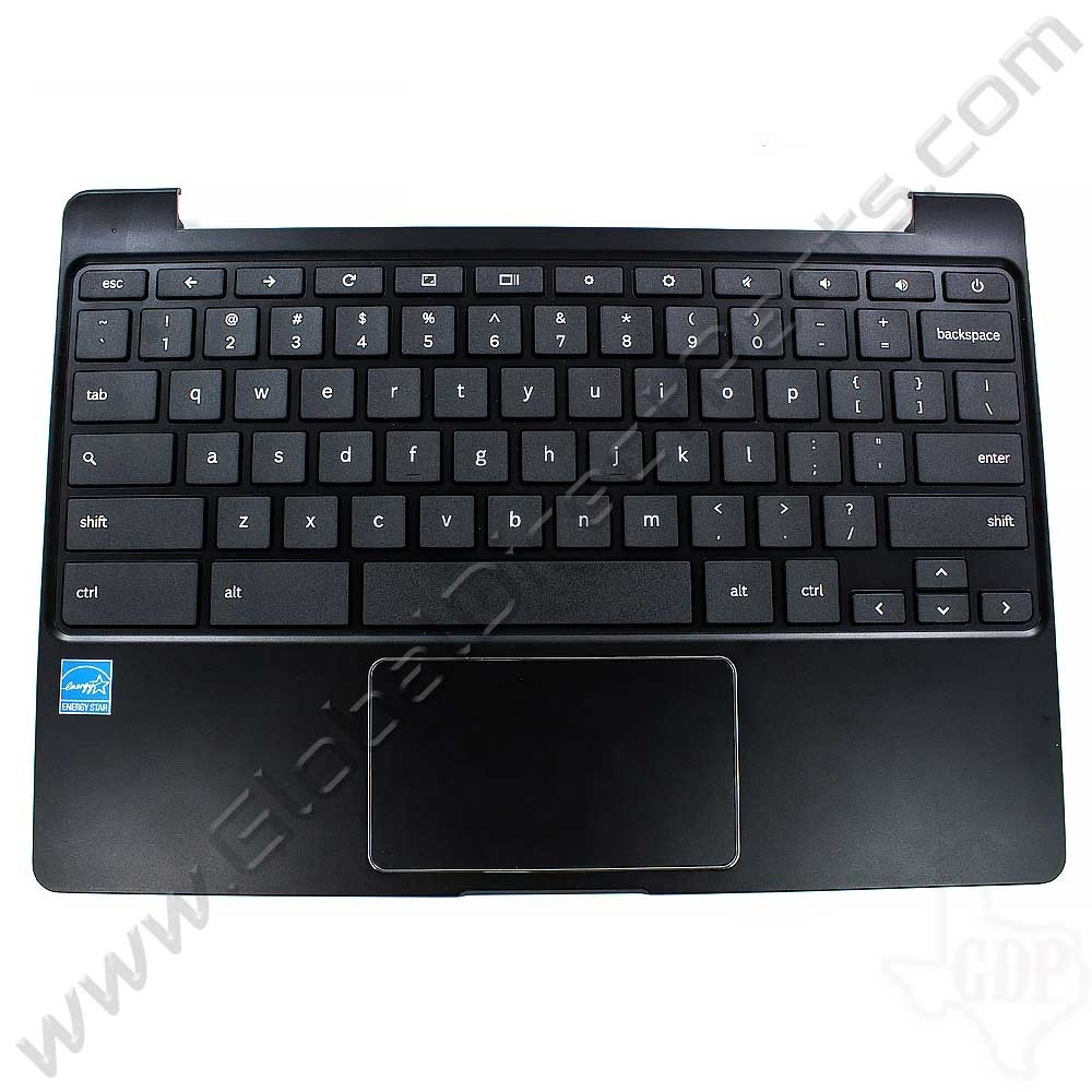 OEM Reclaimed Samsung Chromebook 2 XE503C12 Keyboard with Touchpad [C-Side] - Black [BA98-00266A / BA41-02331A]