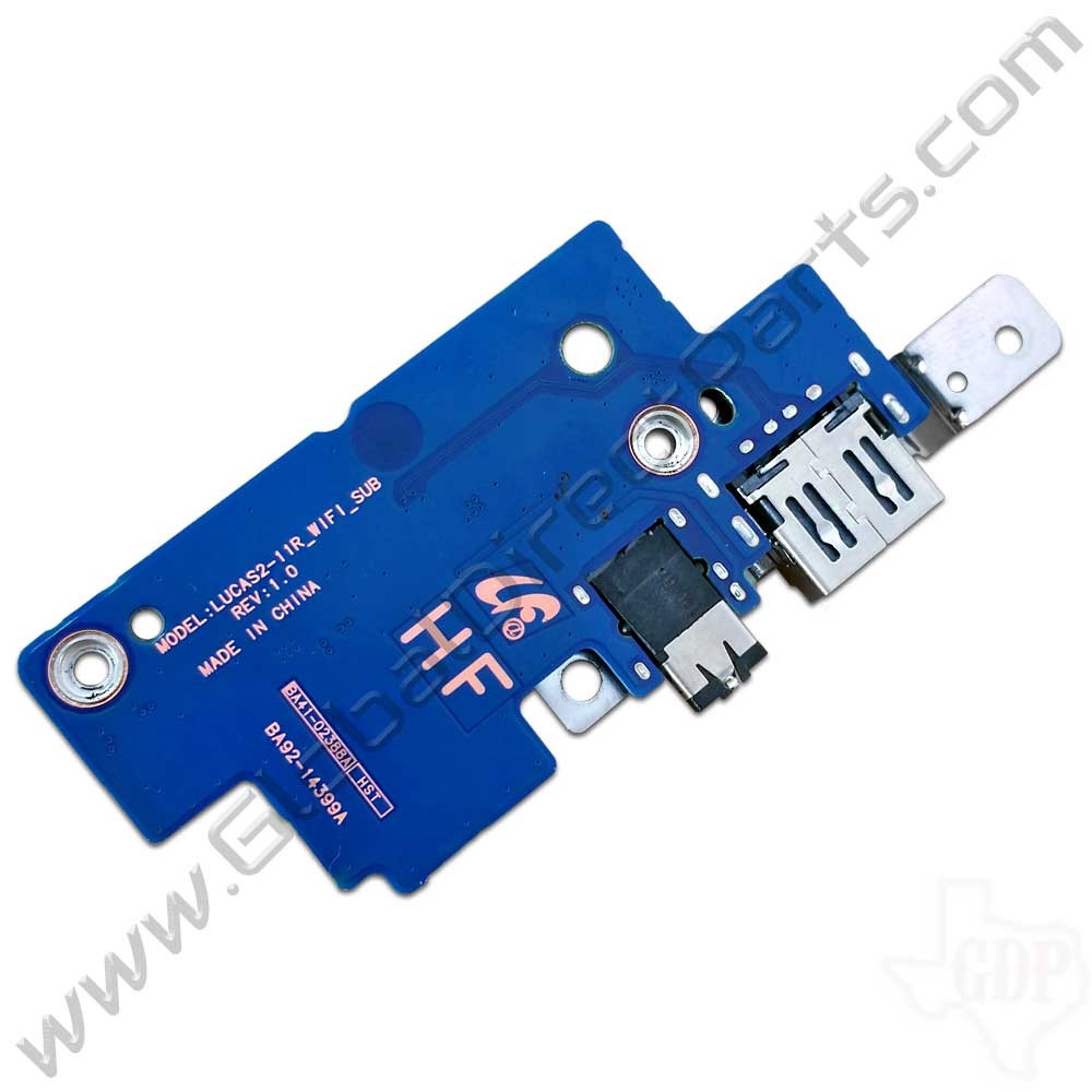 OEM Samsung Chromebook 2 XE503C12 Wi-Fi, Audio Jack & USB Port PCB [BA92-14399A]