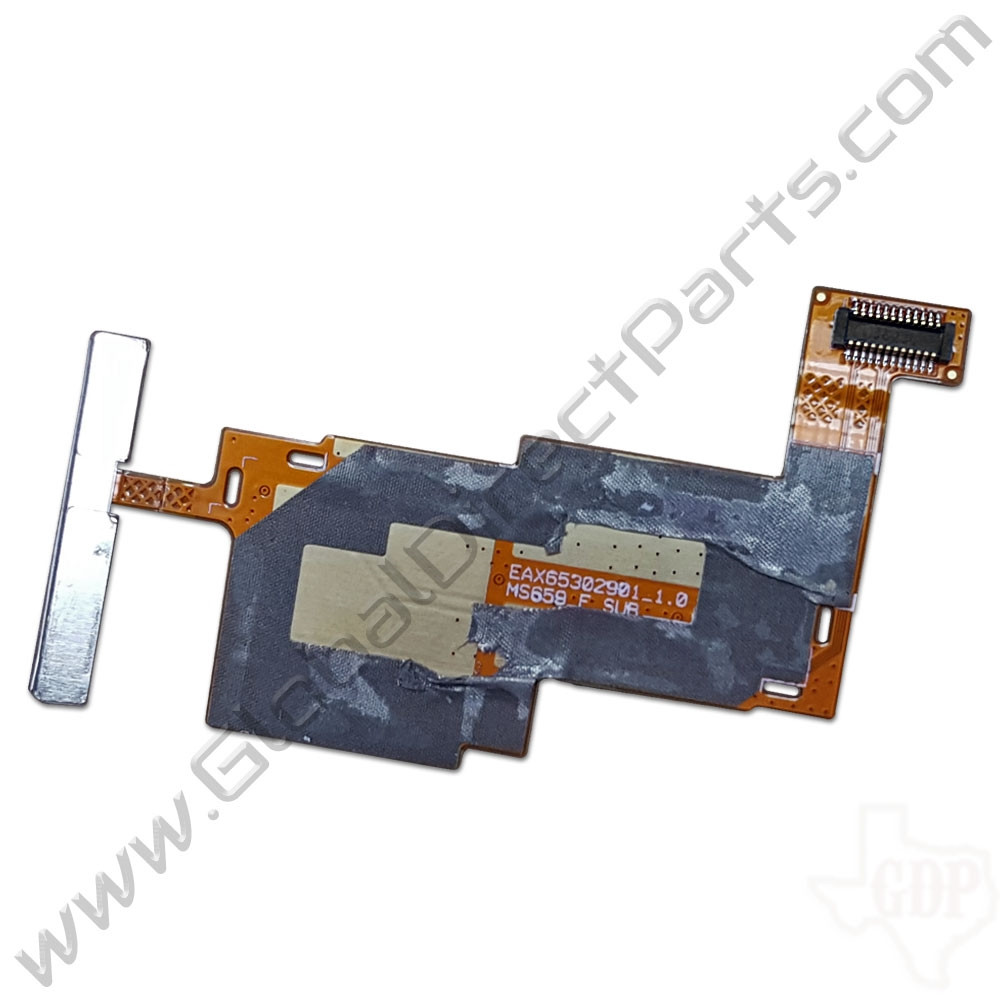 OEM LG Optimus F3 P659 SIM & SD Card PCB with Volume Flex