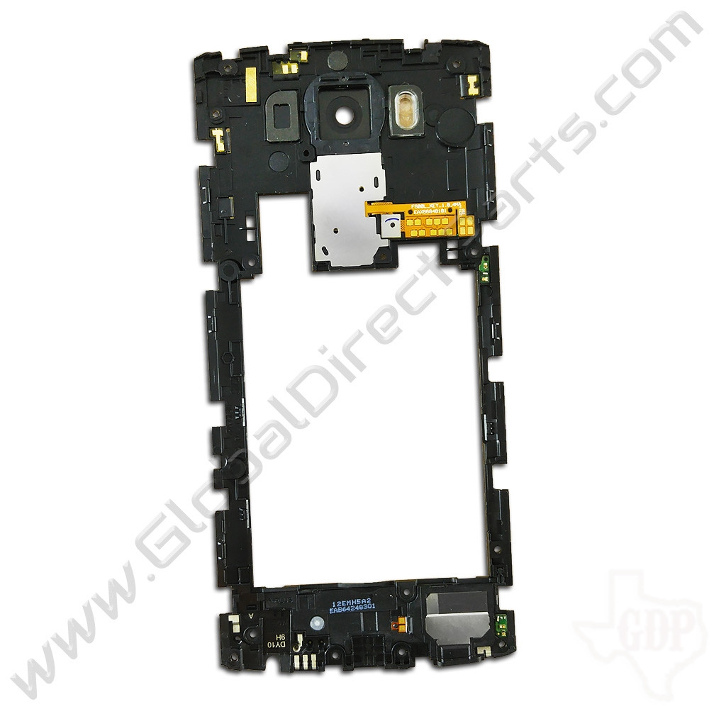 OEM LG V10 VS990, H901 Rear Housing with Loud Speaker Module - White