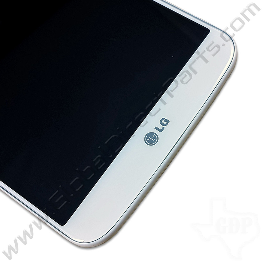 OEM LG G2 VS980W LCD & Digitizer Assembly with Front Housing - White