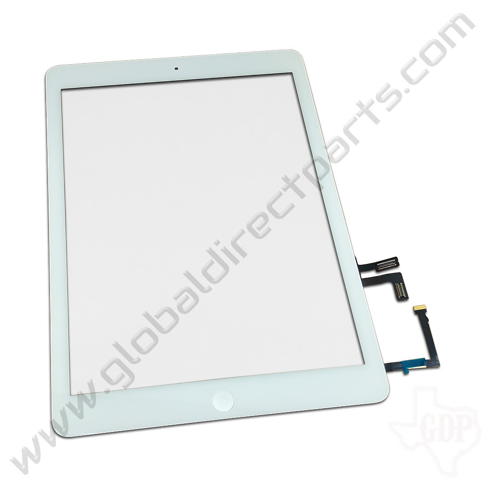 Aftermarket Digitizer Compatible with Apple iPad Air [Including Home Button Assembly] - White