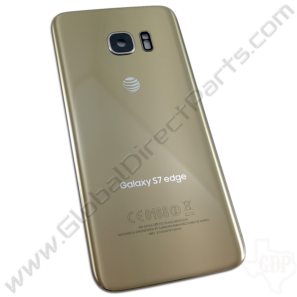 OEM Reclaimed Samsung Galaxy S7 Edge G935A Battery Cover - Gold