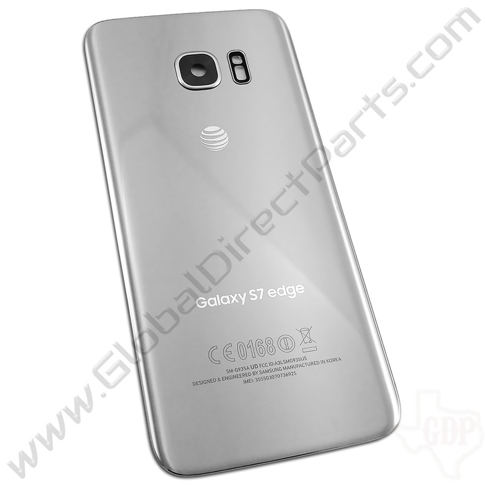 OEM Samsung Galaxy S7 Edge G935A Battery Cover - Silver