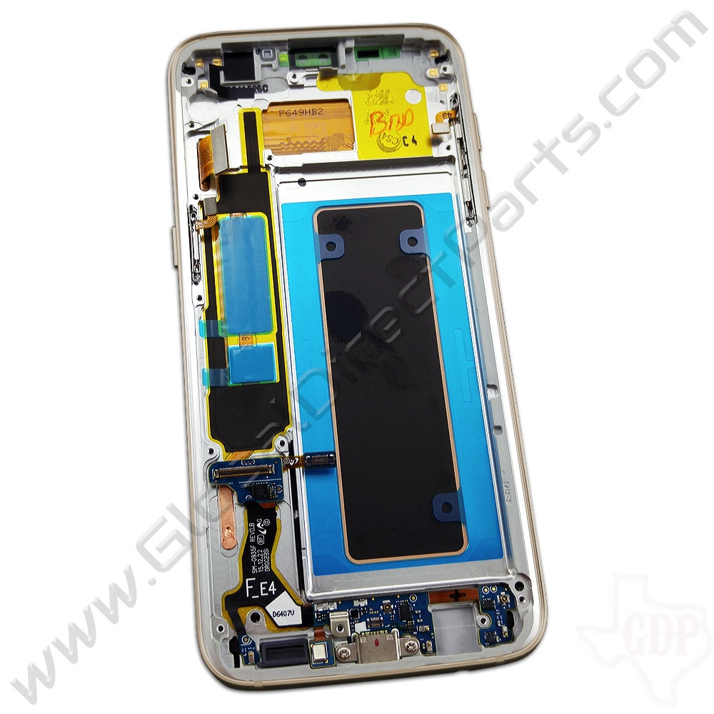 OEM Samsung Galaxy S7 Edge G935F Complete AMOLED & Digitizer Assembly with Front Housing - Gold