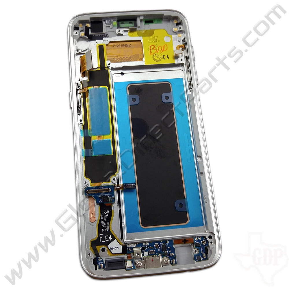 OEM Samsung Galaxy S7 Edge G935F Complete AMOLED & Digitizer Assembly with Front Housing - White