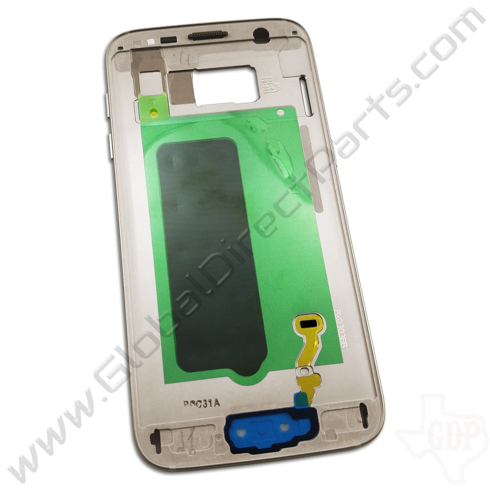 OEM Samsung Galaxy S7 Middle Frame / Rear Housing - Gold