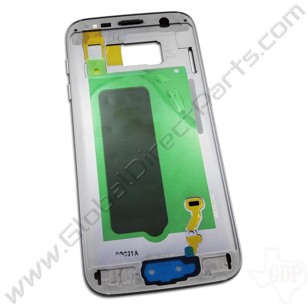 OEM Samsung Galaxy S7 Middle Frame / Rear Housing - Silver
