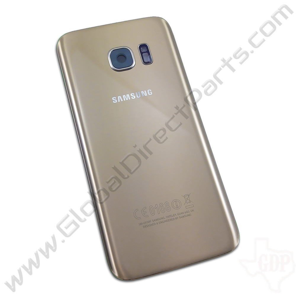 OEM Samsung Galaxy S7 G930F Battery Cover - Gold