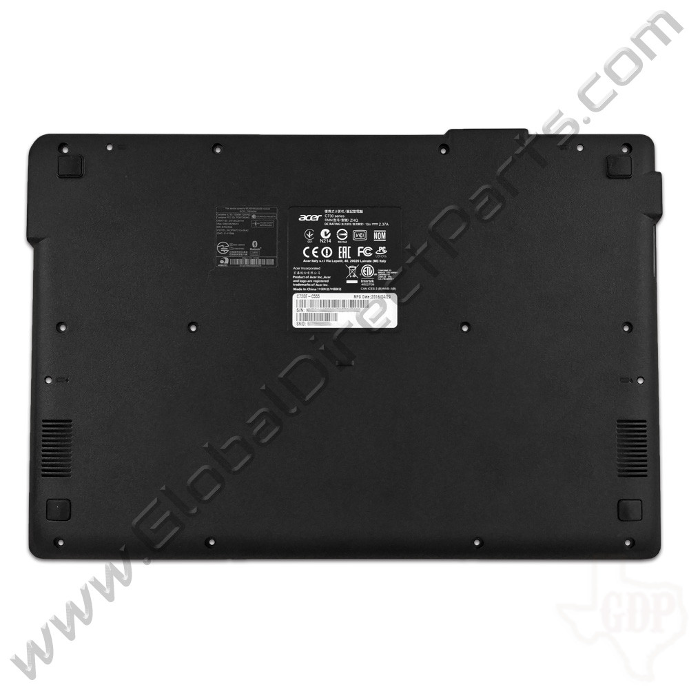 OEM Acer Chromebook C730 Bottom Housing [D-Side] - Black
