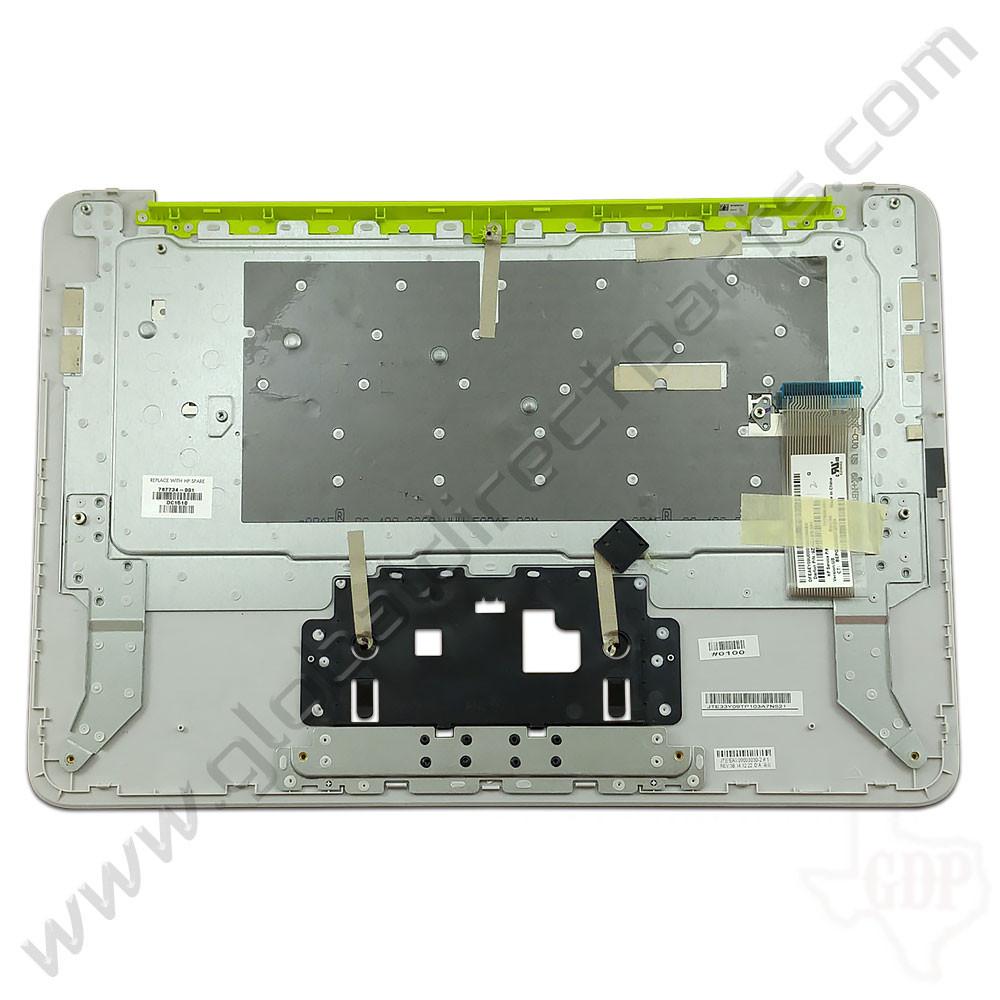 OEM Reclaimed HP Chromebook 14 G3, G4 Keyboard [C-Side] - White [Yellow Strip] [788511-001]
