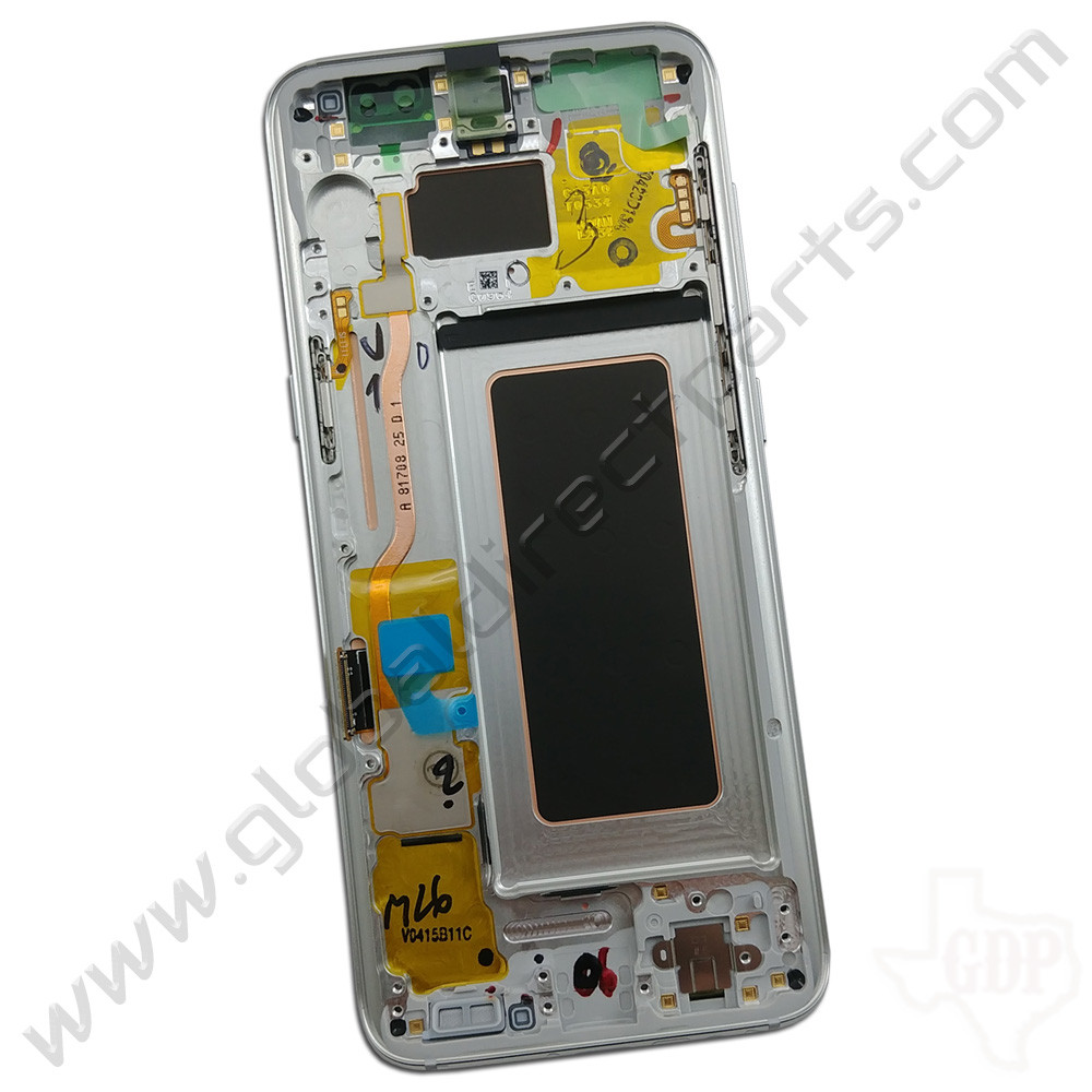 OEM Samsung Galaxy S8 AMOLED & Digitizer Assembly with Front Housing - Silver