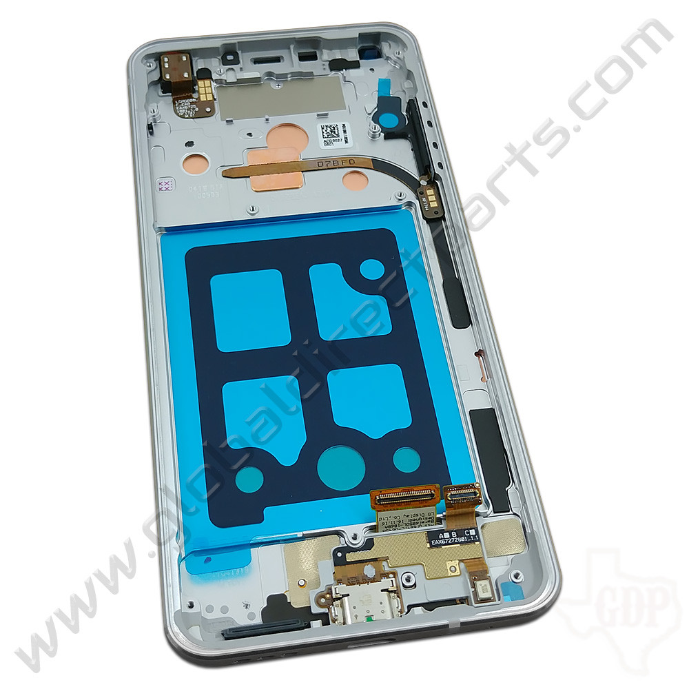 OEM LG G6 LCD & Digitizer Assembly with Front Housing - Silver