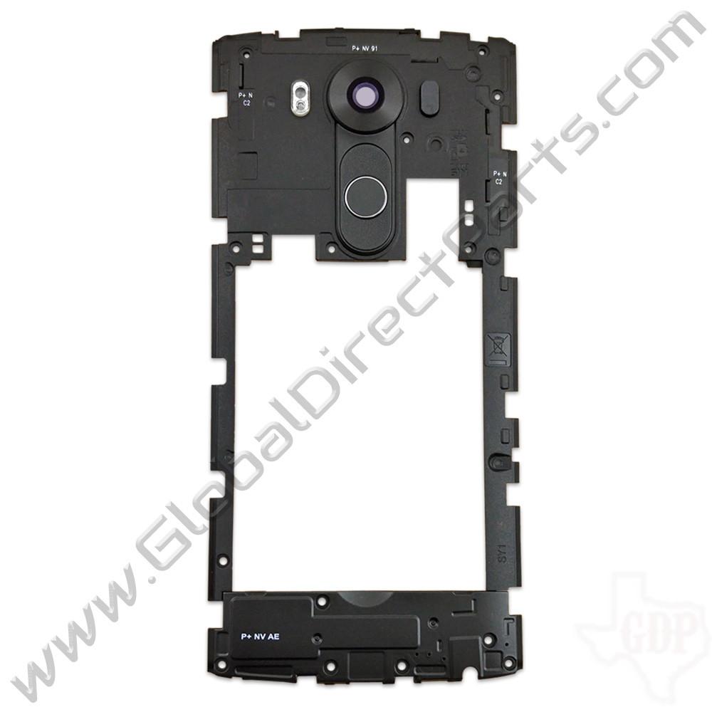 OEM LG V10 VS990, H901 Rear Housing with Loud Speaker Module - Black