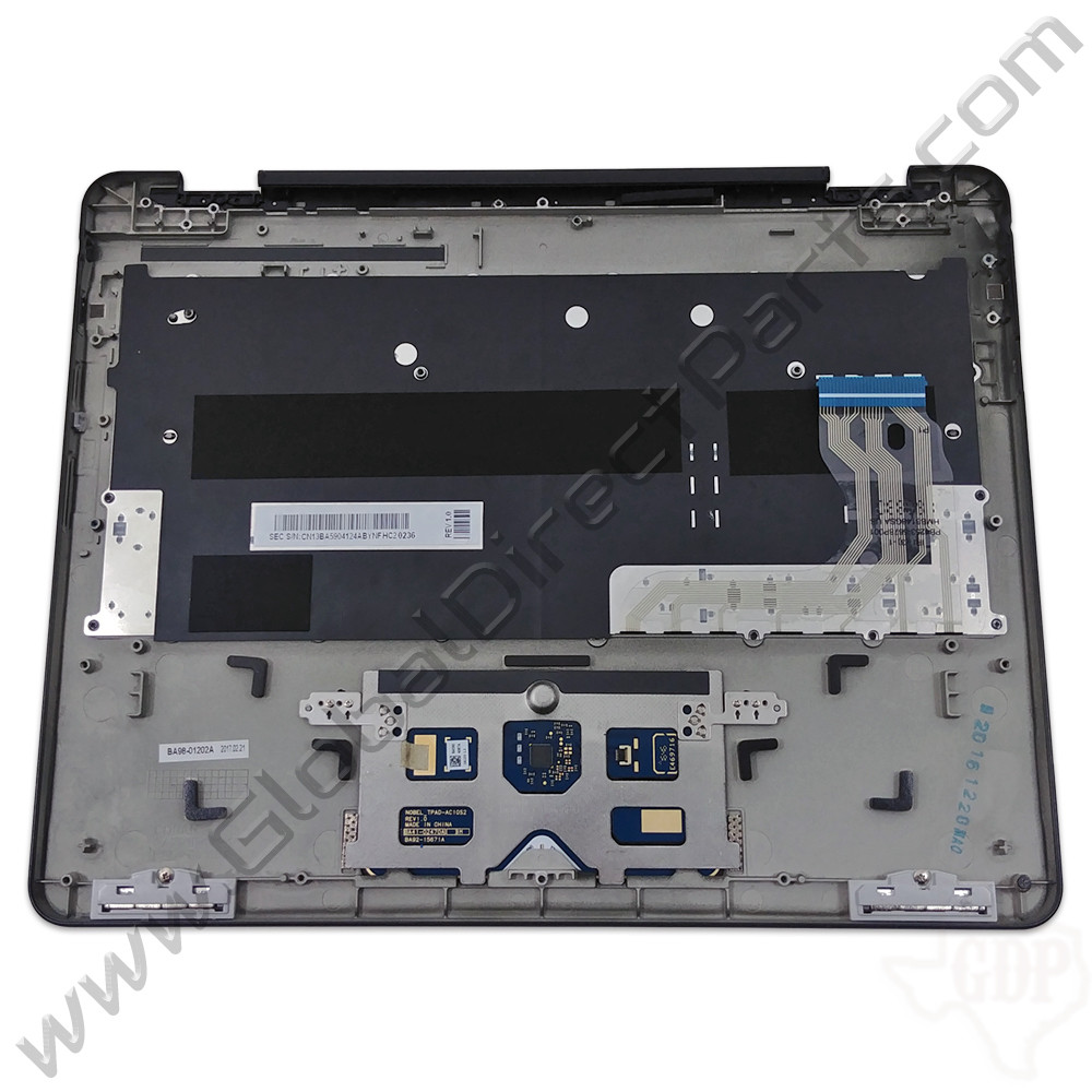 OEM Samsung Chromebook Pro XE510C24 Keyboard with Touchpad [C-Side] - Black [BA59-04124A]