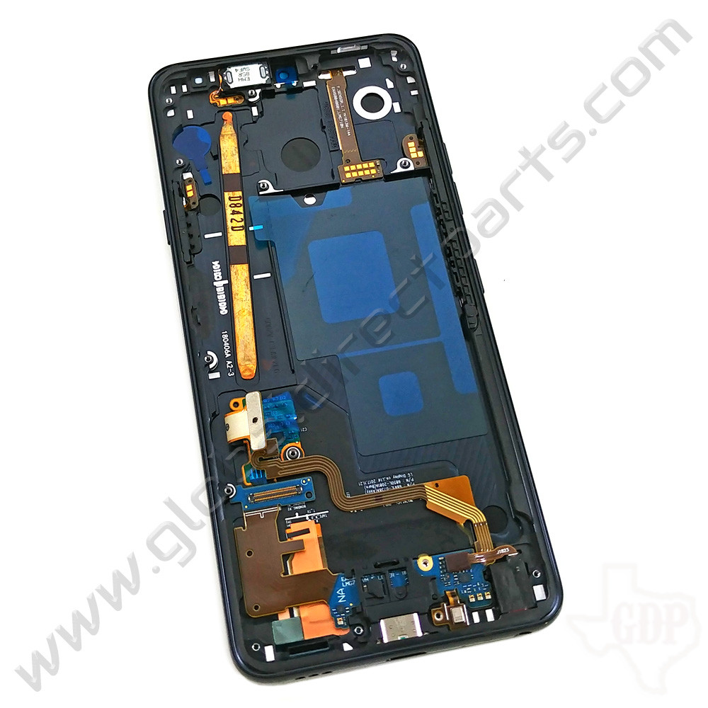 OEM LG G7 ThinQ G710VM, G710VMX Complete LCD & Digitizer Assembly with Front Housing - Black [ACQ90244511]