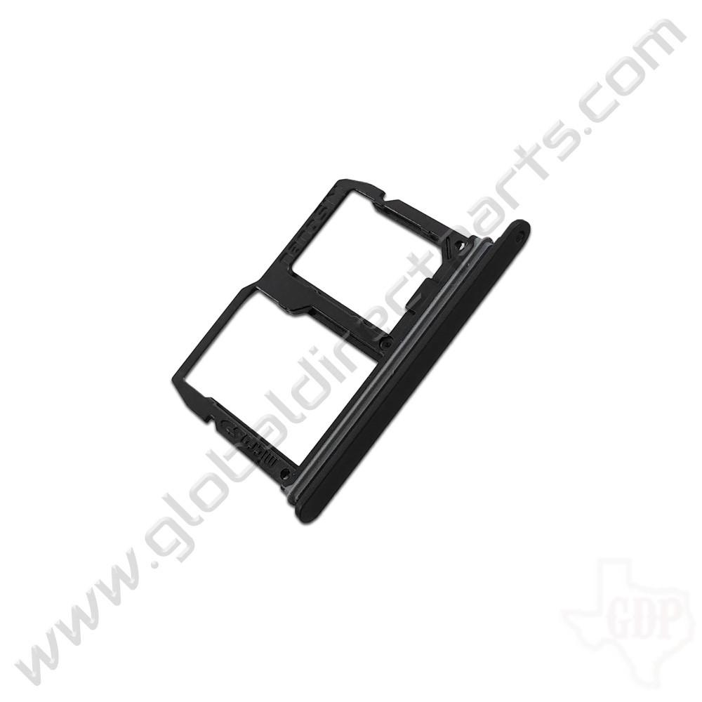 OEM LG Stylo 4, Q7+ SIM & SD Card Tray - Black