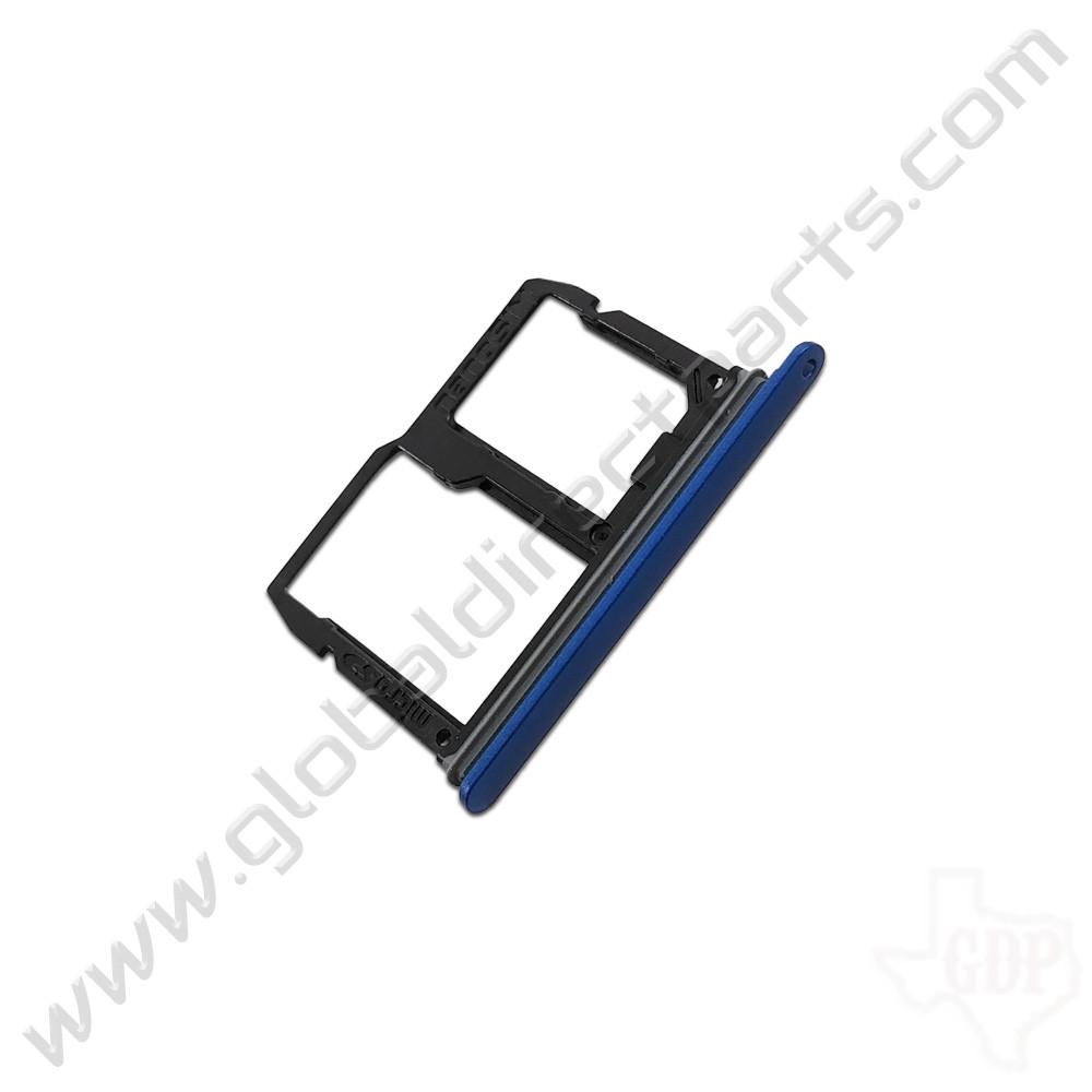 OEM LG Stylo 4, Q7+ SIM & SD Card Tray - Blue