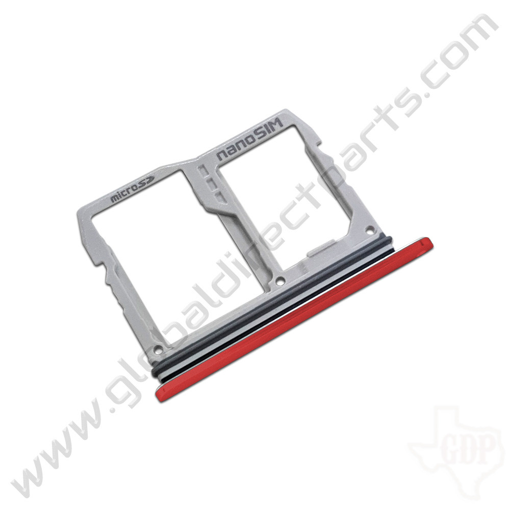 OEM LG G8 ThinQ G820TMR SIM Card Tray - Red [ABN76138103]