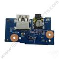 OEM HP Chromebook 11 G5, G5 Touch, 11-V011DX USB & Audio Jack PCB [900816-001]