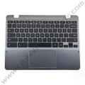 OEM Reclaimed Samsung Chromebook XE550C22 Keyboard with Touchpad [C-Side] - White [BA75-03432A]