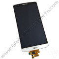 OEM LG G3 LCD & Digitizer Assembly with Front Housing - White