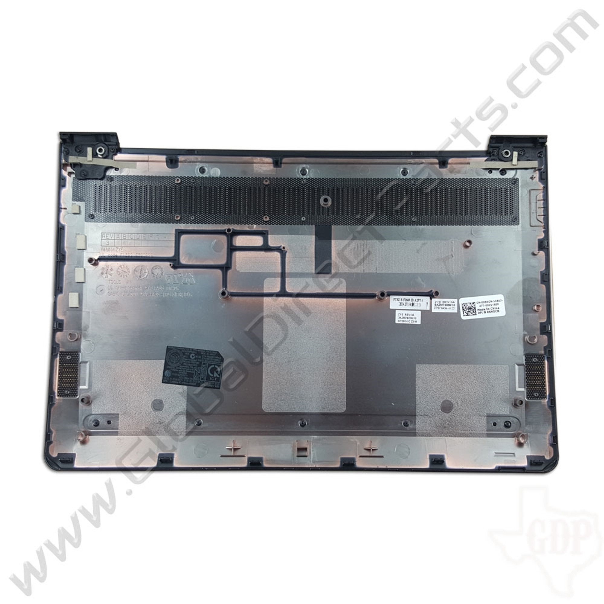 - Gray OEM Dell Chromebook 11 CB1C13 Bottom Housing D-Side 0X9XCN