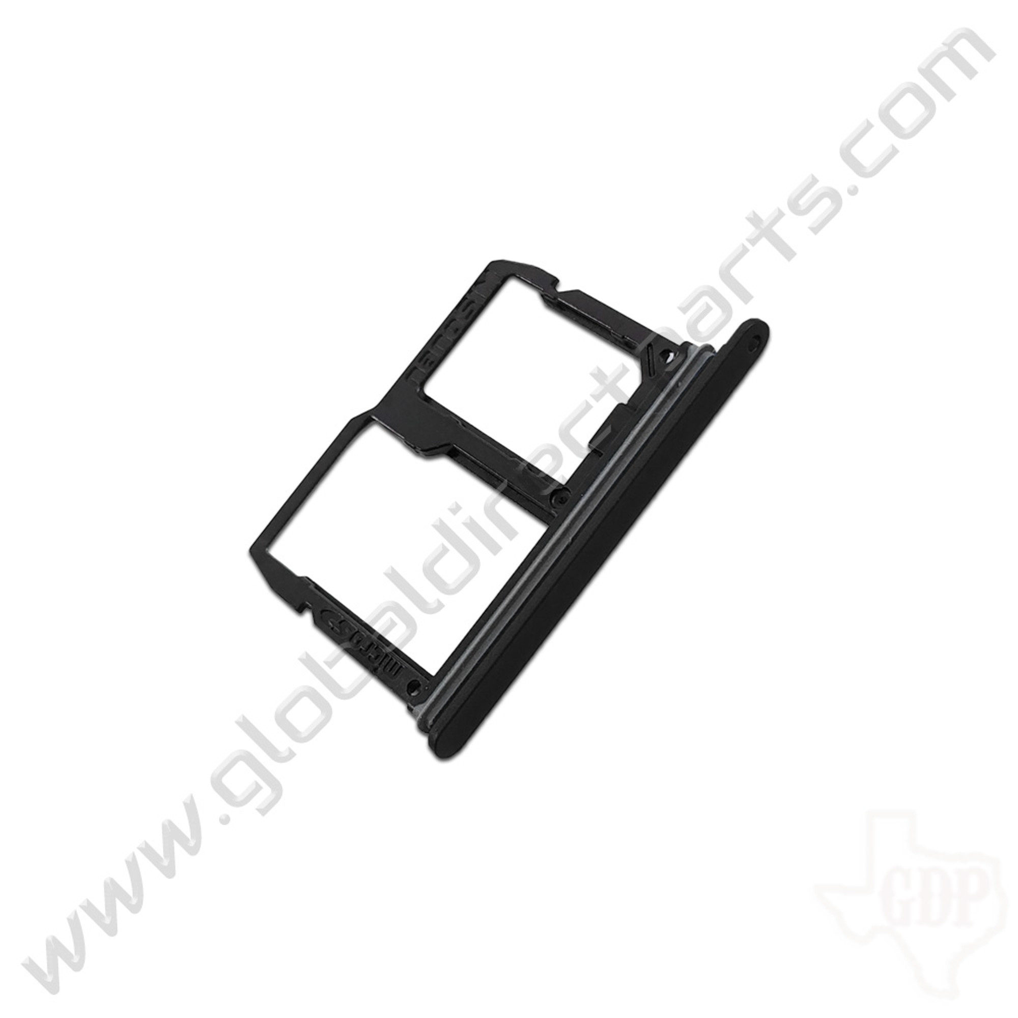 OEM LG Stylo 4, Q7+ SIM & SD Card Tray - Black