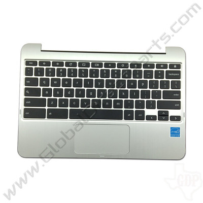 OEM Reclaimed Asus Chromebook Flip C100P Keyboard with Touchpad [C-Side] - Silver [0KNL0-J100US00]