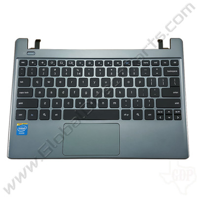 OEM Reclaimed Acer Chromebook C710 Keyboard with Touchpad [C-Side] - Gray [AP0RO000370373046131CP]