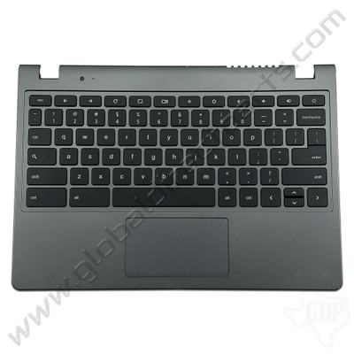 OEM Reclaimed Acer Chromebook C720, C720P Keyboard with Touchpad [C-Side] - Gray [EAZHN001010]