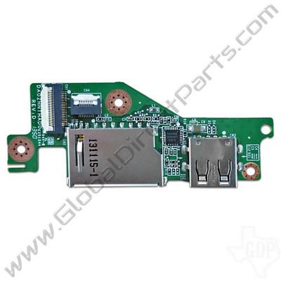 OEM Acer Chromebook C720, C720P, C740 SD Card Reader & USB Port PCB [DA0ZHNTHAD0]