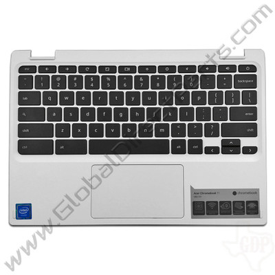 OEM Reclaimed Acer Chromebook 11 CB3-131 Keyboard with Touchpad [C-Side] - White [EAZHR00101A]