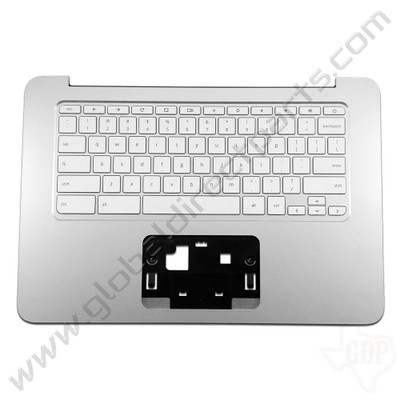 OEM Reclaimed HP Chromebook 14 G3, G4 Keyboard [C-Side] - White [Black Strip] [788511-001]