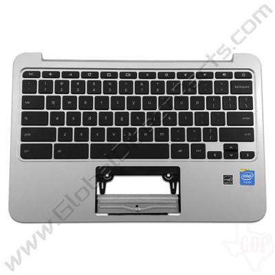 OEM Reclaimed HP Chromebook 11 G3, G4 Keyboard [C-Side] - Silver [788639-001]